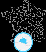Carte de France avec l'Ariège